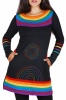 Rainbow cotton dress with pockets
