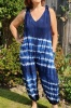 Blue tie dye dungarees