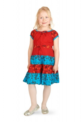 Children floral print dress