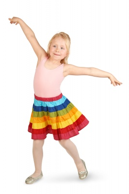 Children rainbow skirt