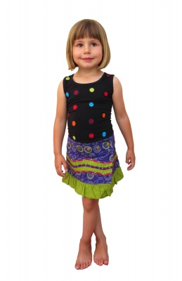 Children frill hem wrap skirt