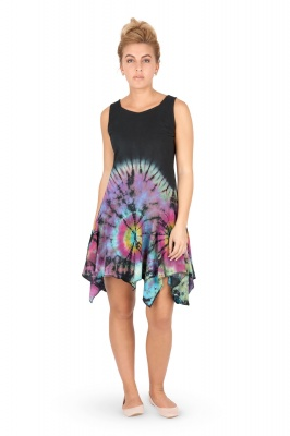Black and rainbow tie dye dress