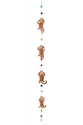 Handmade felted Monkeys garland