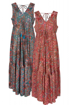 Bohemian long silky dress