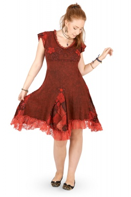 e8c3c2dcb Cotton dress with patchwork and lace detail