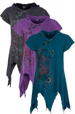 Short sleeve hooded pixie top