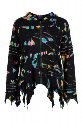 Tie dye pixie hooded jacket