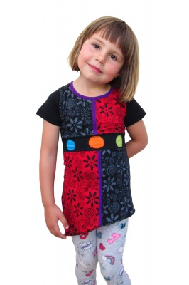 Children black and red dress