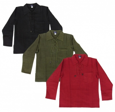 Medieval style heavy cotton shirt - Red colour only