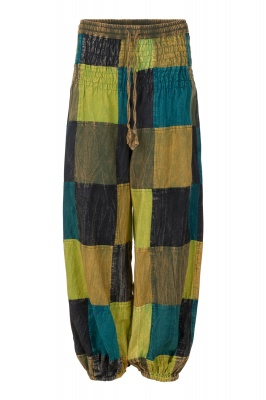 Long patchwork unisex trousers