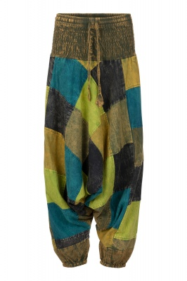 Long patchwork harem trousers