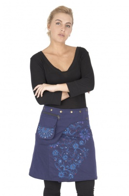 Mid length wrap skirt with sequins