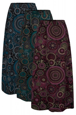 Mandala maxi skirt with pockets