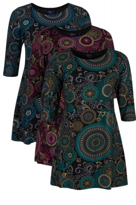 Mandala 3/4 sleeve top