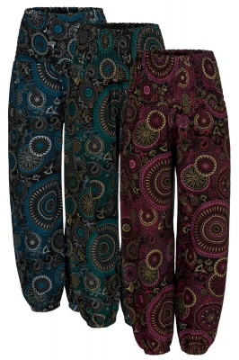 Mandala print baggy trousers with pockets