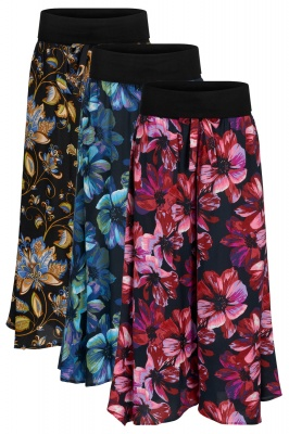 Floral palazzo trousers with pockets