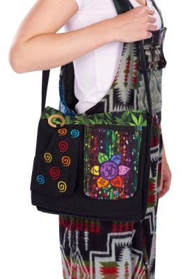 Swirly chakra shoulder bag