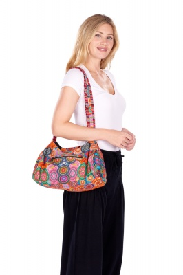 Medium size colourful shoulder bag