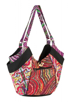 Large colourful shoulder bag