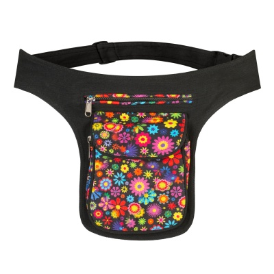 Flower print hippie belt bag