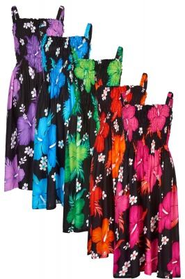Colourful summer floral dress