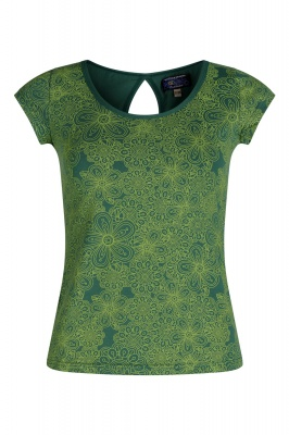 Organic cotton green printed top