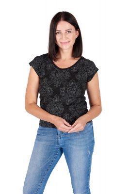 Organic cotton diamond print top