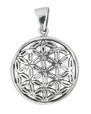 Silver Flower of life pendant - small