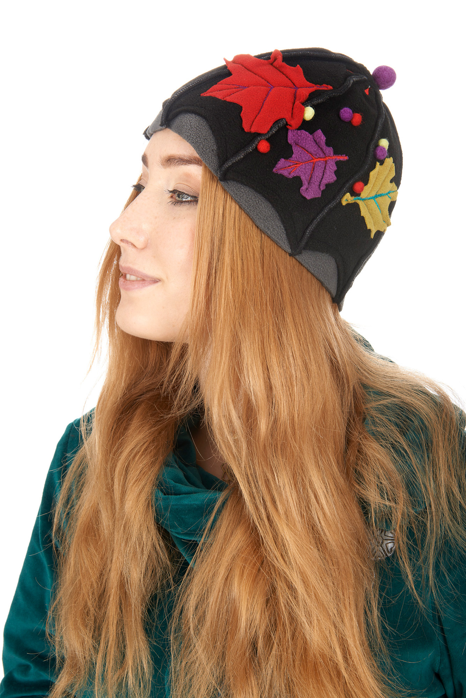 Nature inspired fleece hat