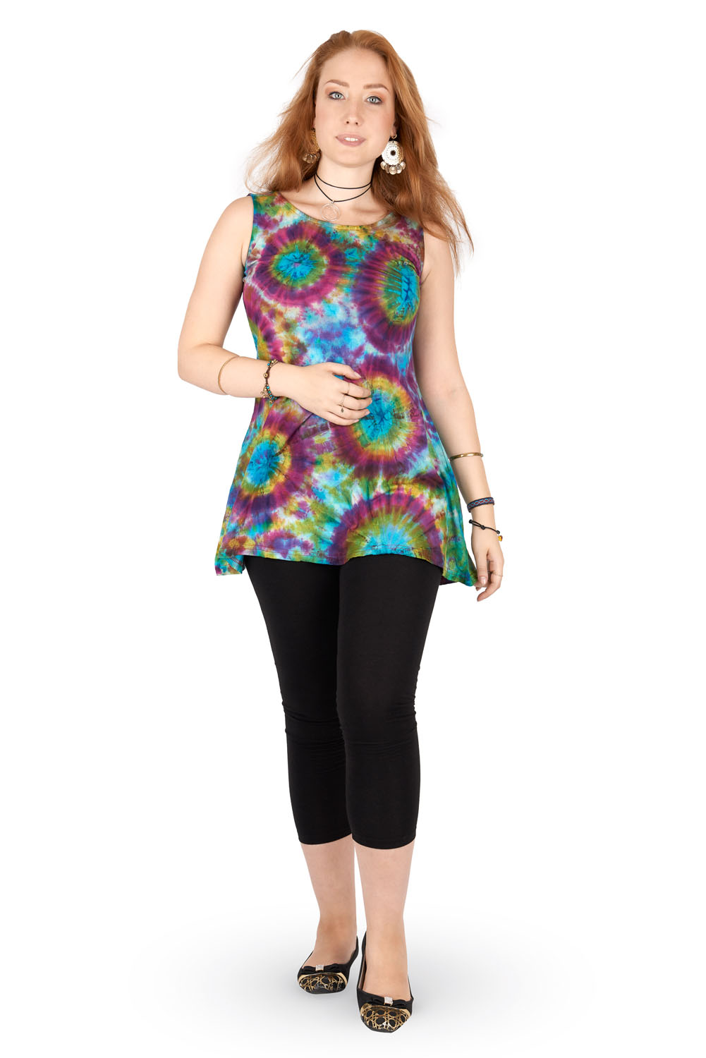 Tie dye hippie dress / tunic