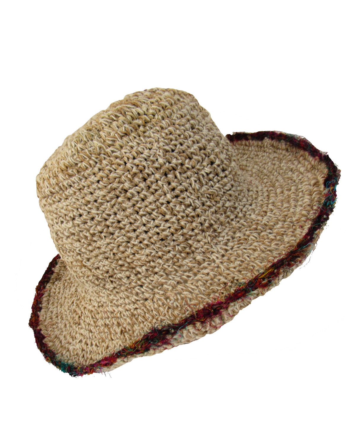 3415909a Wicked Dragon Clothing - Hemp wire brim recycled silk trimmed hat