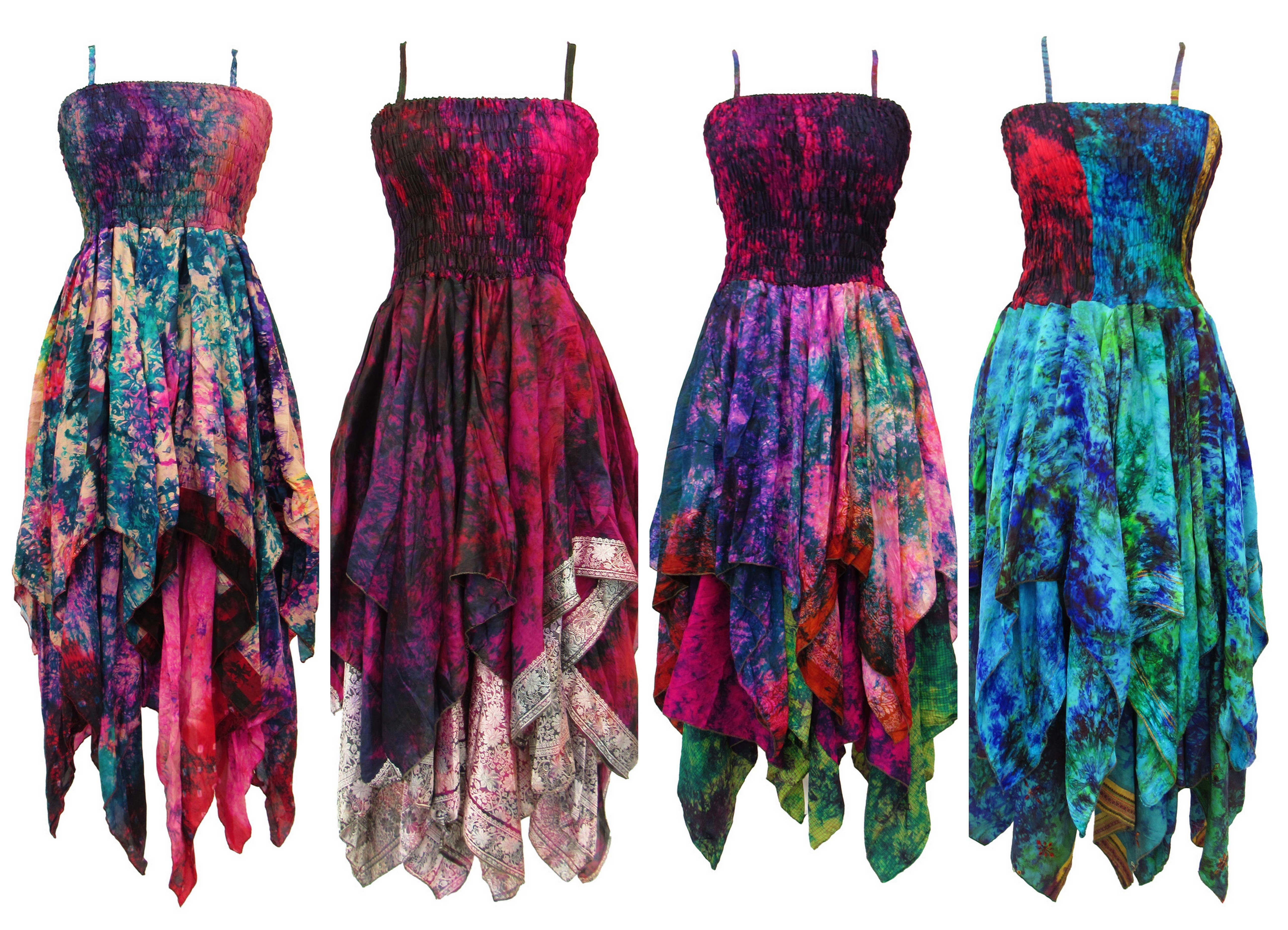 Tie dye pixie dress PLUS size - Assortment of colours