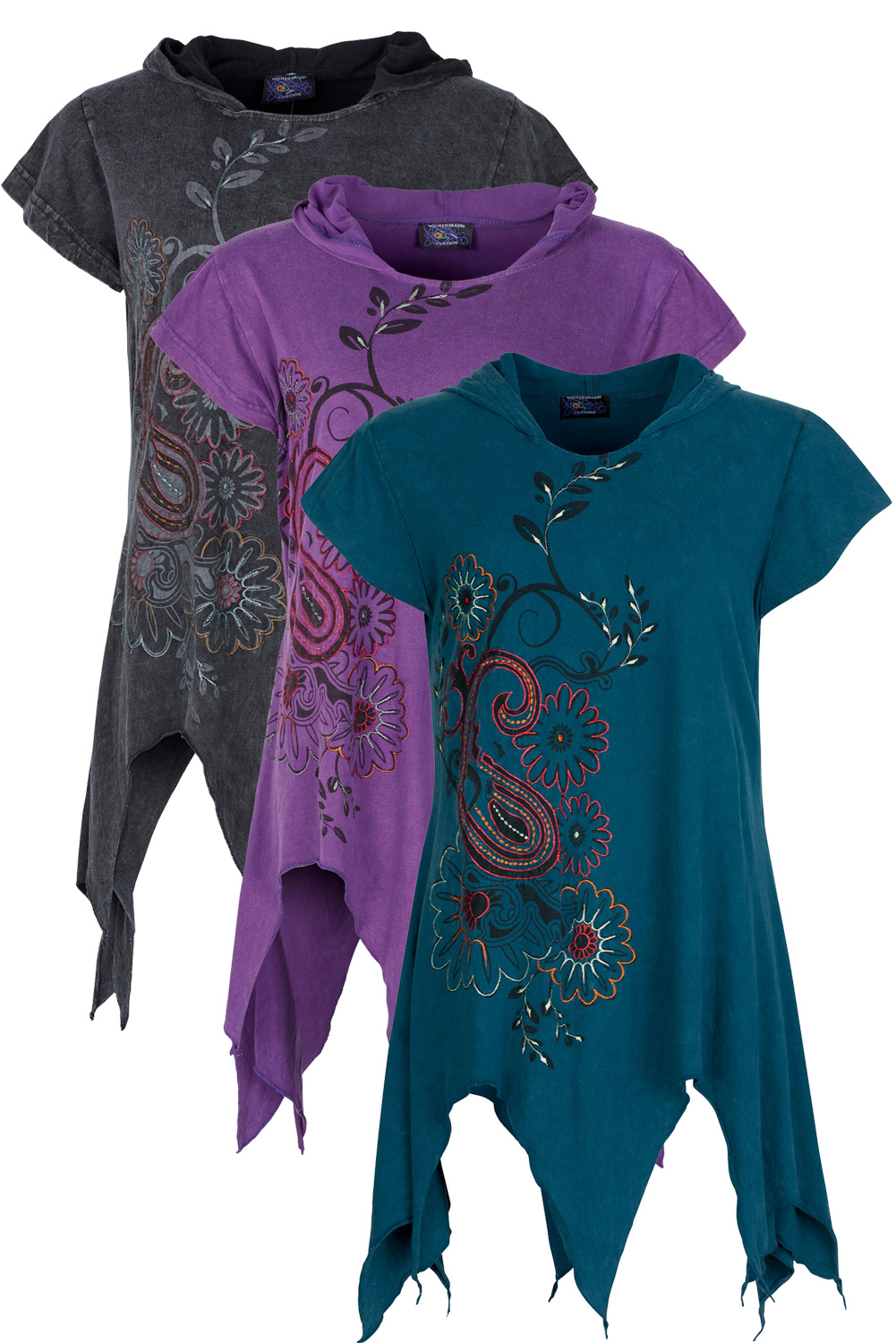 Short sleeve hooded pixie top - M/L only
