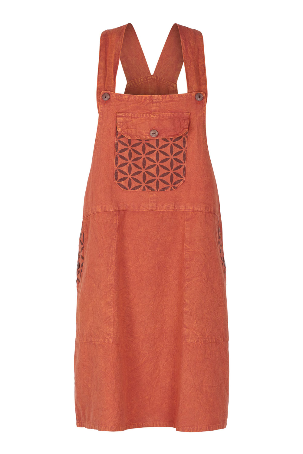 Flower of Life pinafore dress