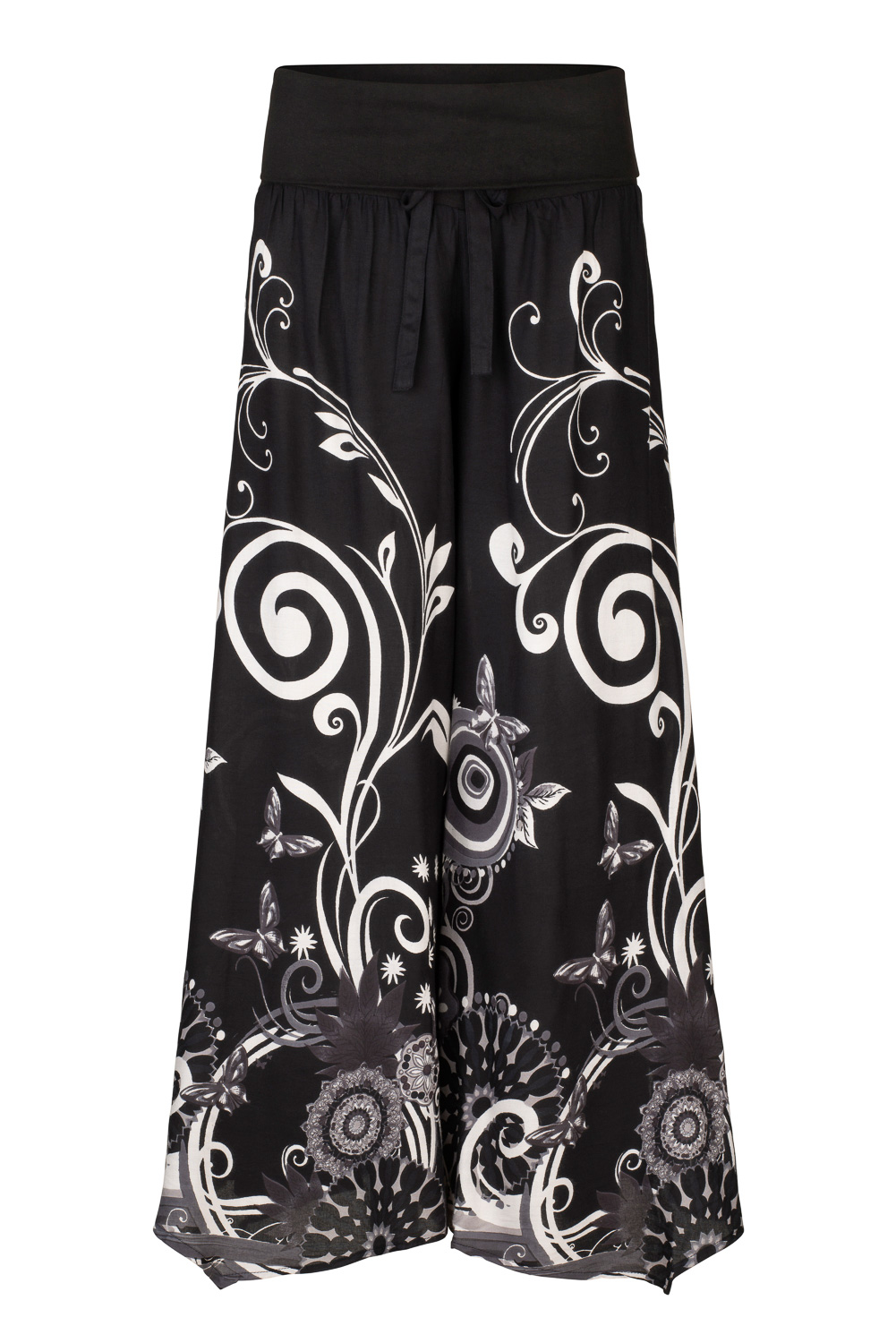 Flared butterfly trousers