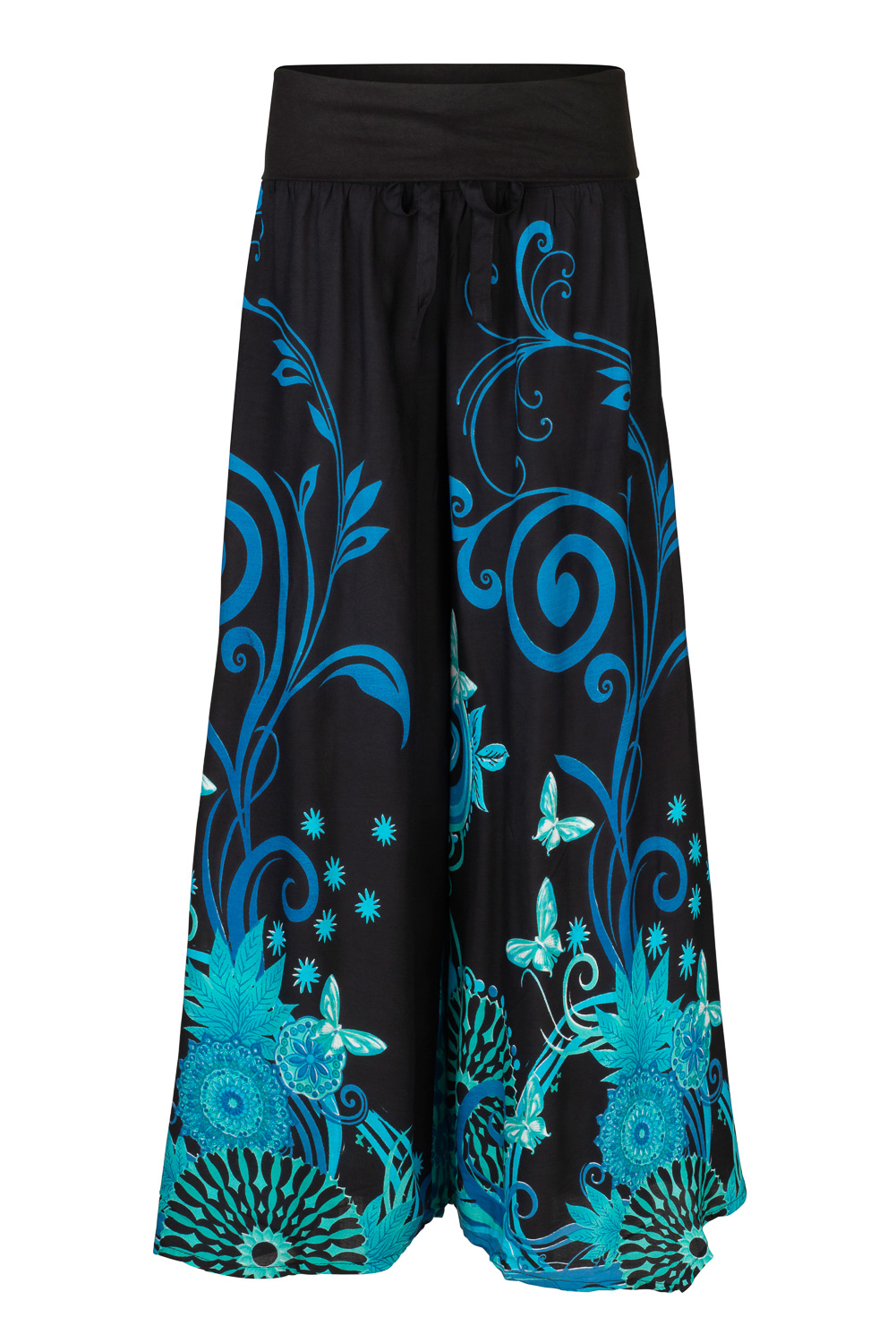 New Butterfly Palazzo Trousers Flare Pants Festival up to Plus Size
