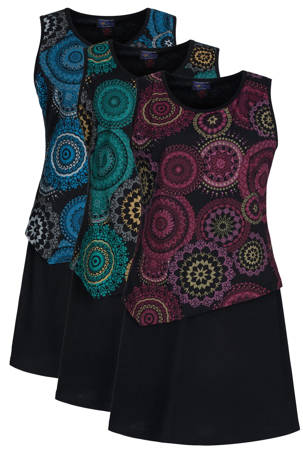 Sleeveless mandala summer dress